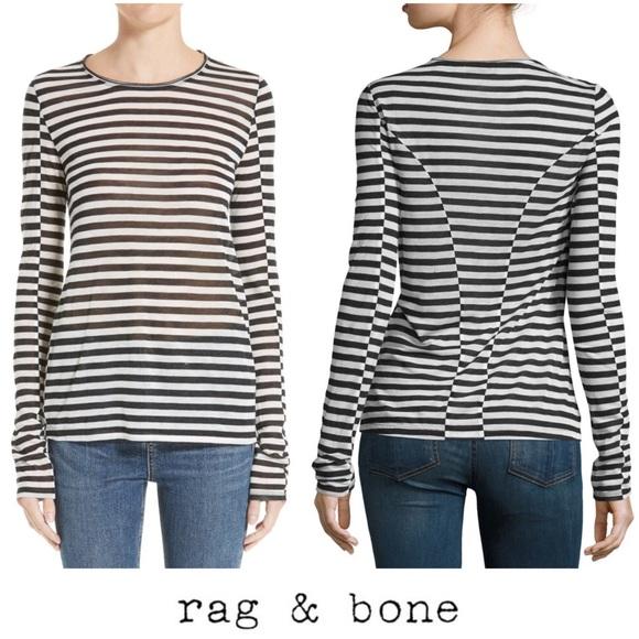 a342b42085 rag & bone Tops | Rag Bone Black White Arrow Striped Long Sleeve ...